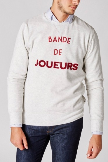 Ecru Bande de Joueurs Sweater