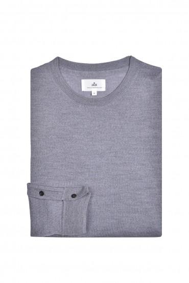 Pull en laine mérinos gris...