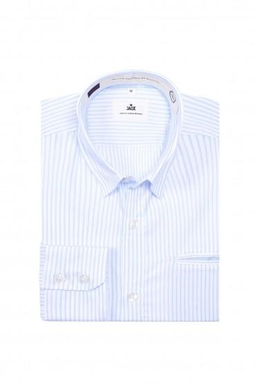 Chemise blanche rayée bleu...