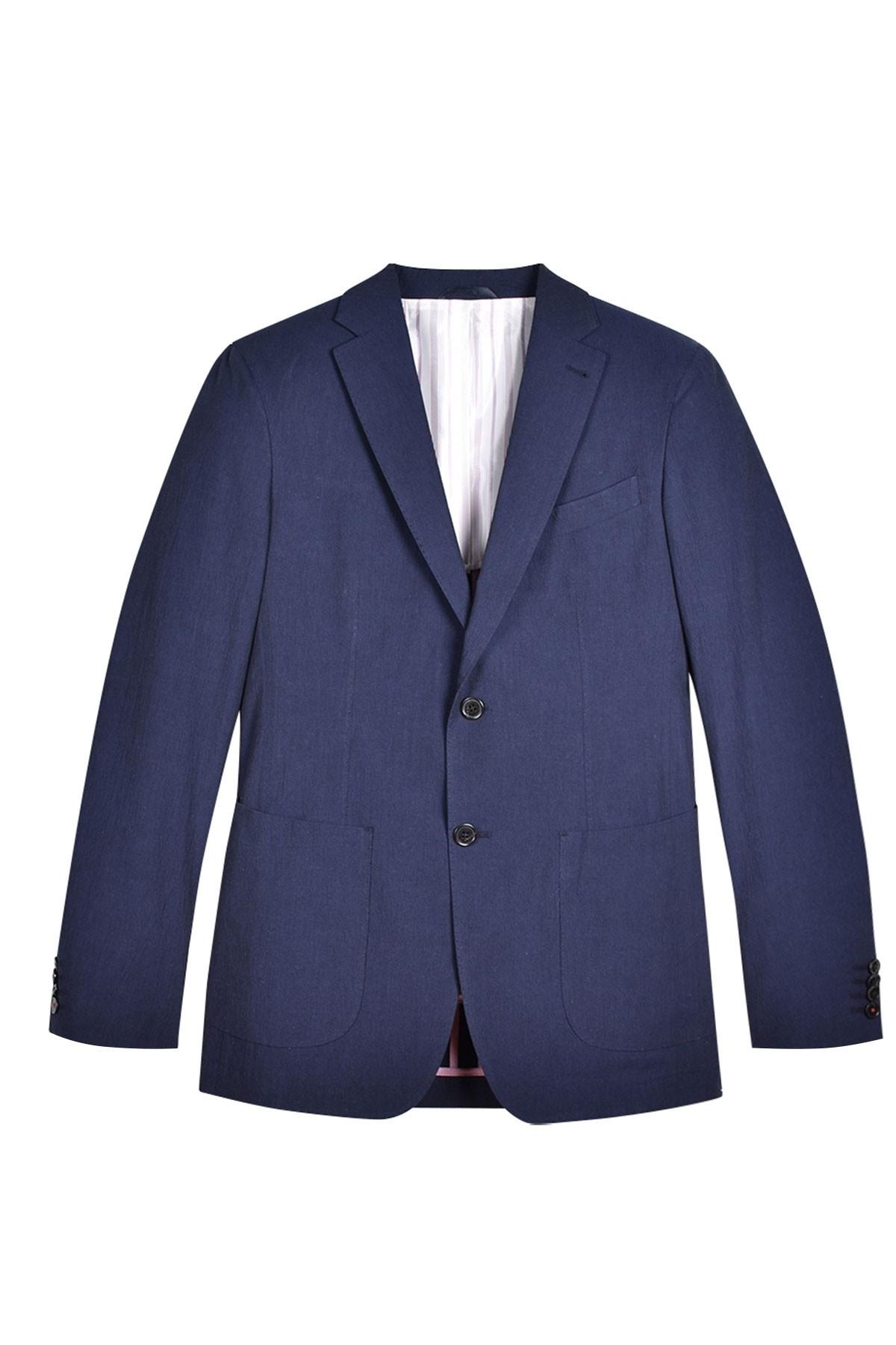 Coco Garros Bleu Marine Jaqk Costume De Seersucker Veste En q1wf4pfx