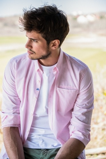 Shirt pink striped Wheel Diego