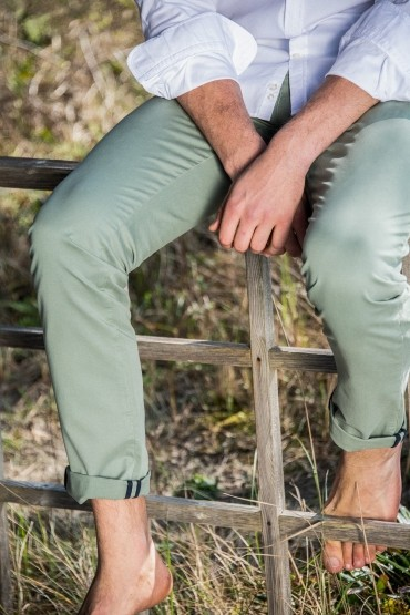 Chino slim Wasp sage green