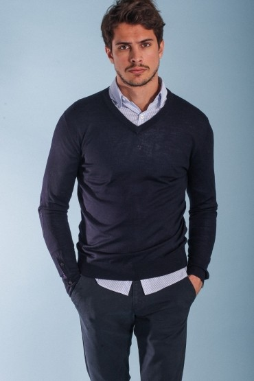 Navy Pull Hardi V-Neck...