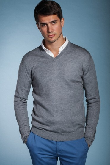 Grey Pull Hardi V-Neck...