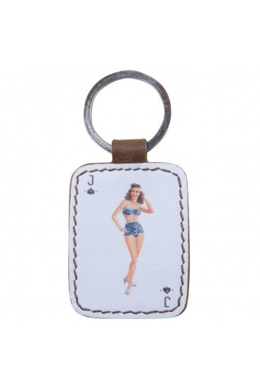 Porte Clé Pin-up Bleue