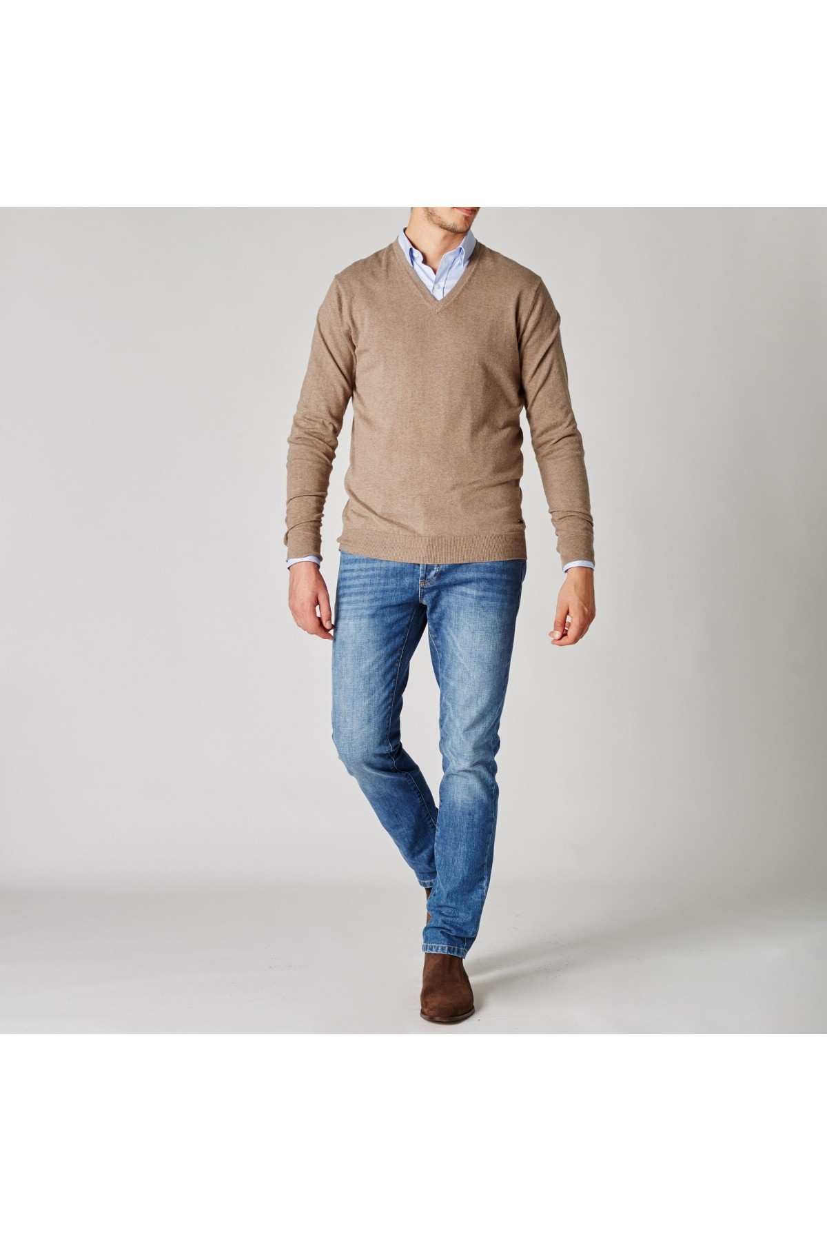 Taupe Blind Sweater Poker Sweaters Jaqk Poker Clothing