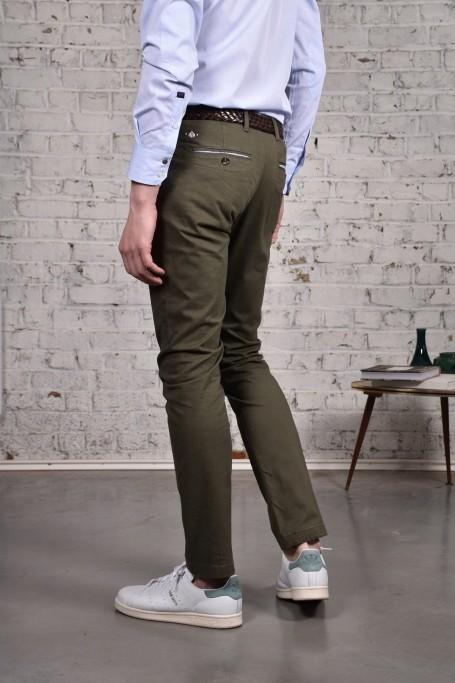 Pantalon Slack Kaki (3)