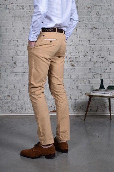 Pantalon Slack Beige