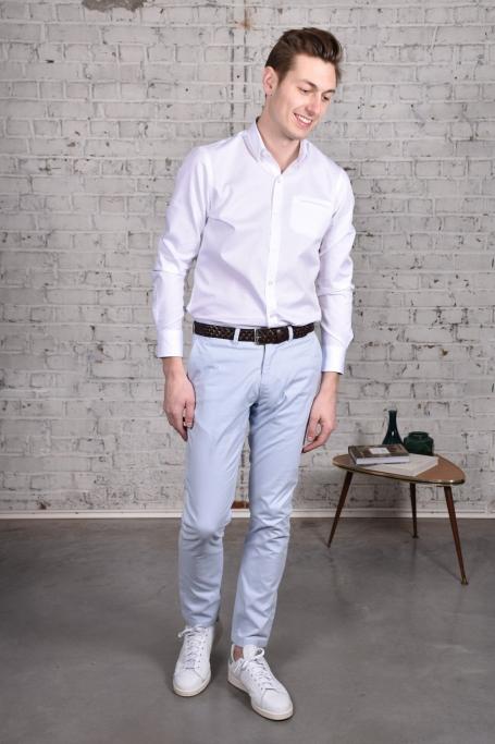 Pantalon Slack Bleu Ciel (2)