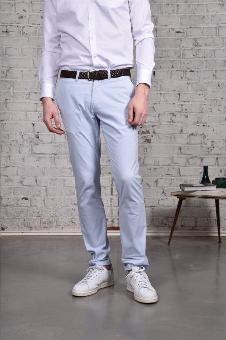 Pantalon Slack Bleu Ciel (4)