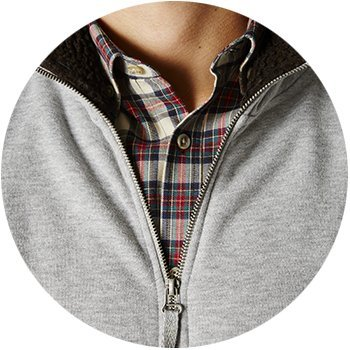 zoom zip américain gris