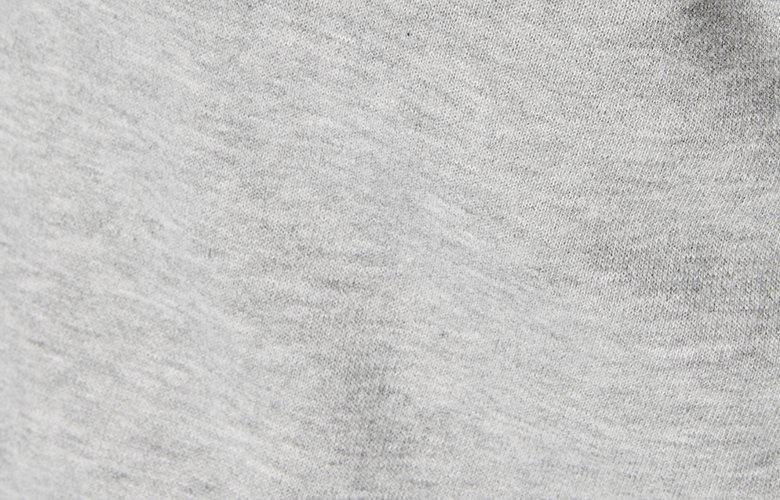 Zoom matiere sweat américain gris