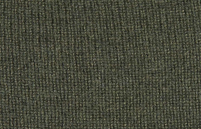 Zoom matière pull Bakari Vert