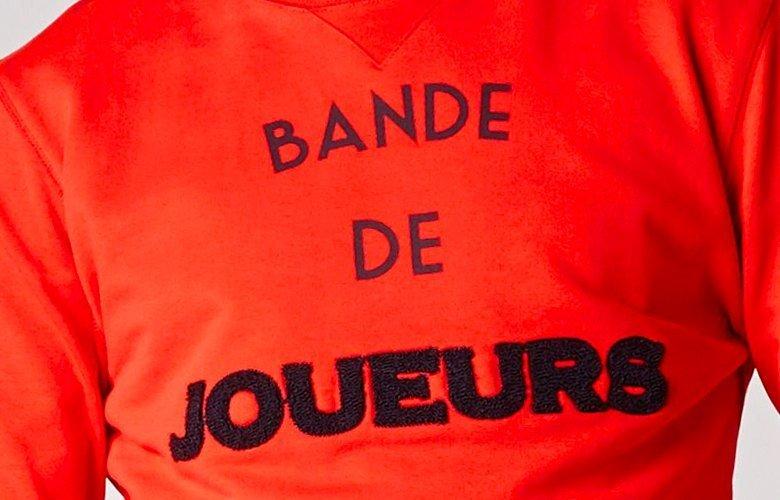 Zoom matiere sweat Bande de Joueurs Rouge