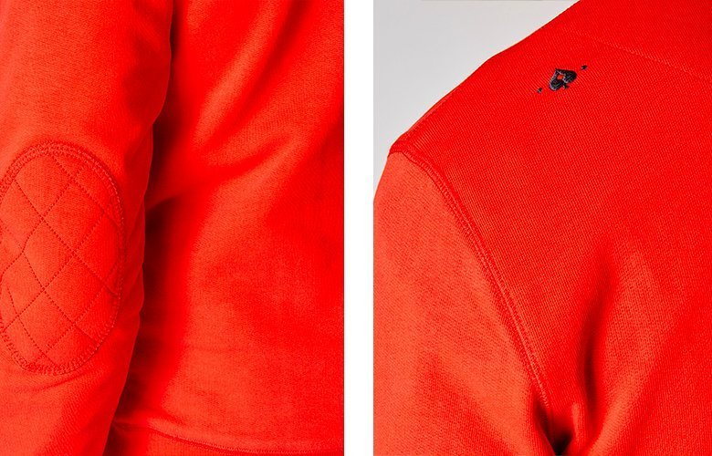 Detail produits sweat Bande de joueurs Rouge
