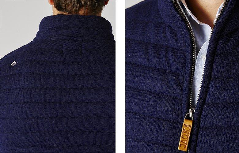 Zoom produit veste brunch marine
