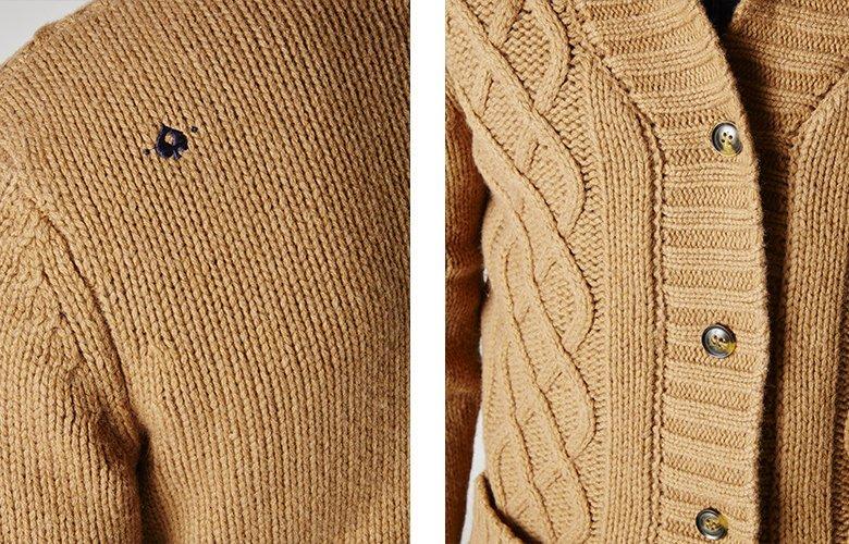 Detail produit gilet cousin camel