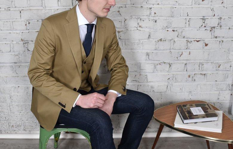 comment porter sa veste Crowne tabac