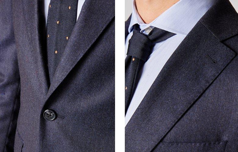 Zoom produit veste crowne bleue