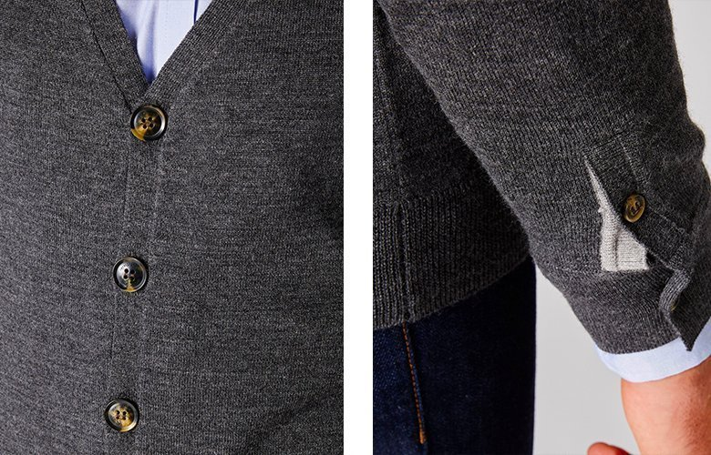 Détails cardigan dandy anthracite