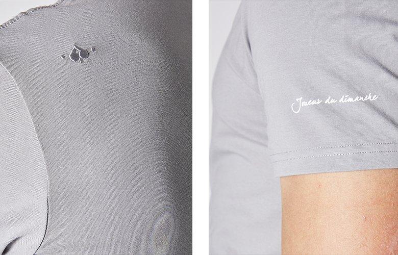 Zoom produit t-shirt este gris