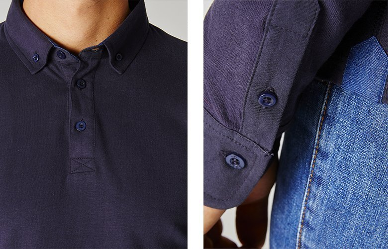Détails du polo family navy