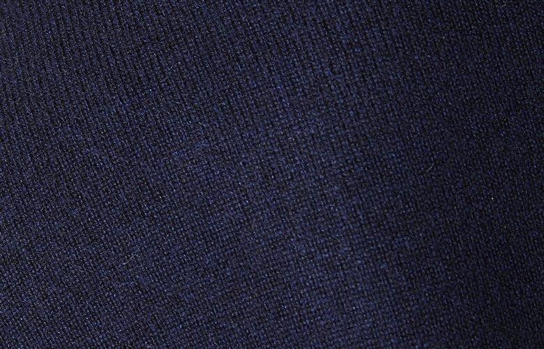 Zoom matiere col roulé figaro marine