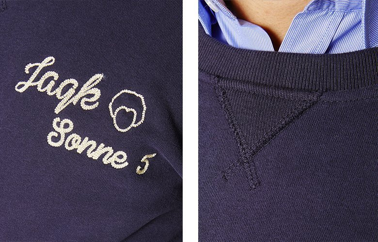 Detail produits sweat friends marine