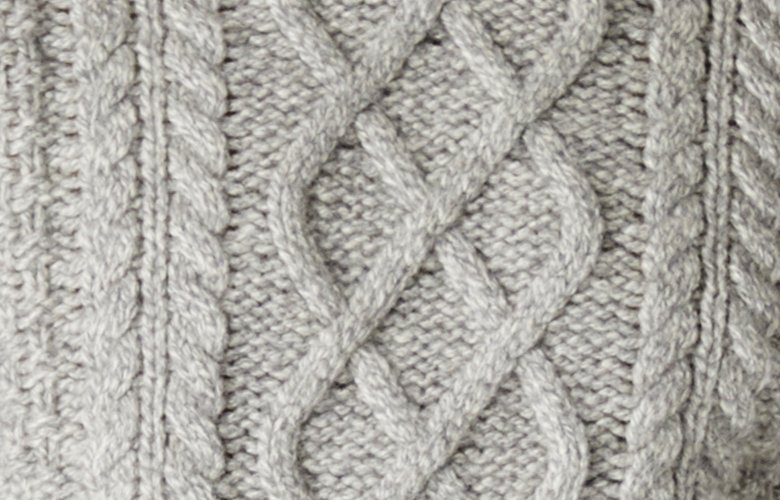 Zoom matiere pull germain gris