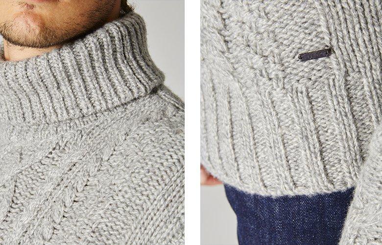 Detail produit pull germain gris