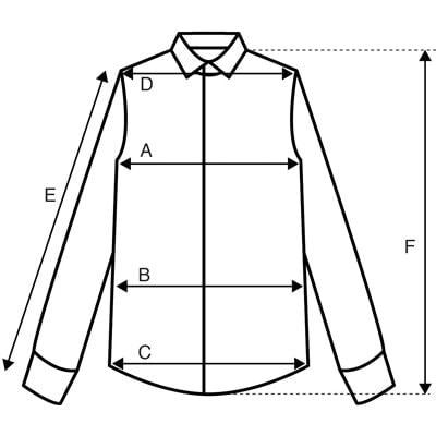 La chemise guide tailles