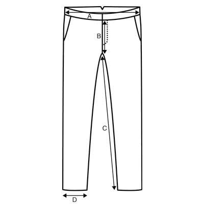 Pantalon guide des tailles