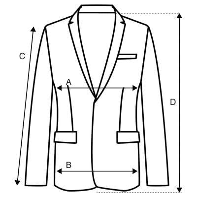 Vestes guide des tailles