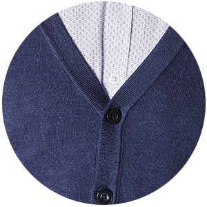 Zoom cardigan dandy bleu