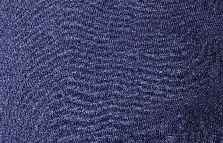 Zoom matiere cardigan dandy bleu