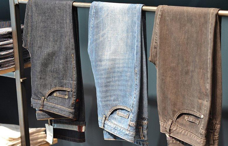 Histoire produit jean bleu lavé