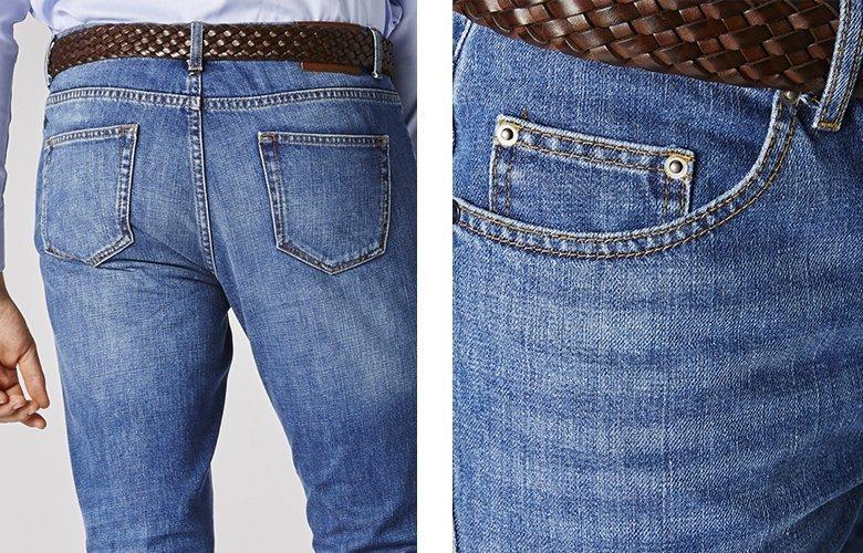 Zoom produit jean denim lavé