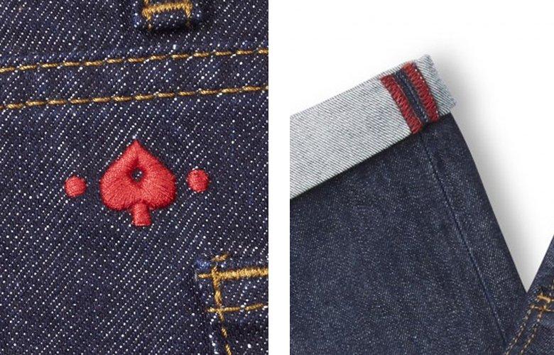 Zoom produit jean denim brut