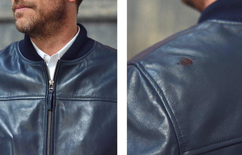 Zoom produit mac veste cuir