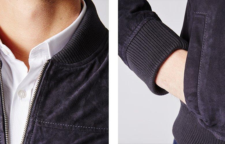 Zoom produit veste mac marine cuir