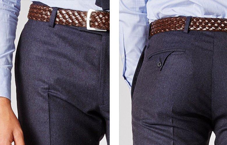 Zoom produit pantalon magot bleu