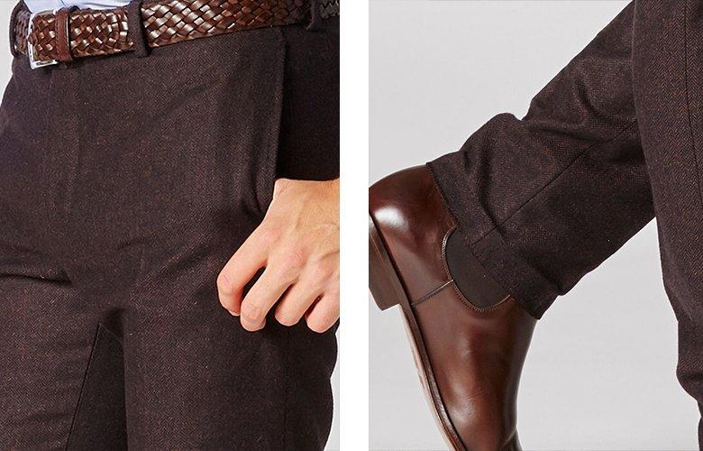 Zoom produit pantalon magot chevron