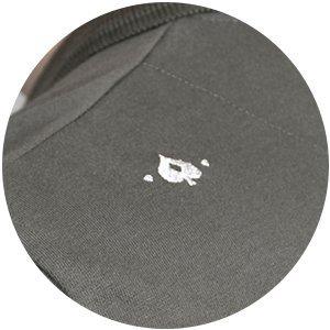 zoom detail Polo Match Kaki