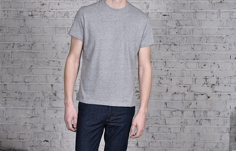 comment porter le t shirt molki gris BLEU