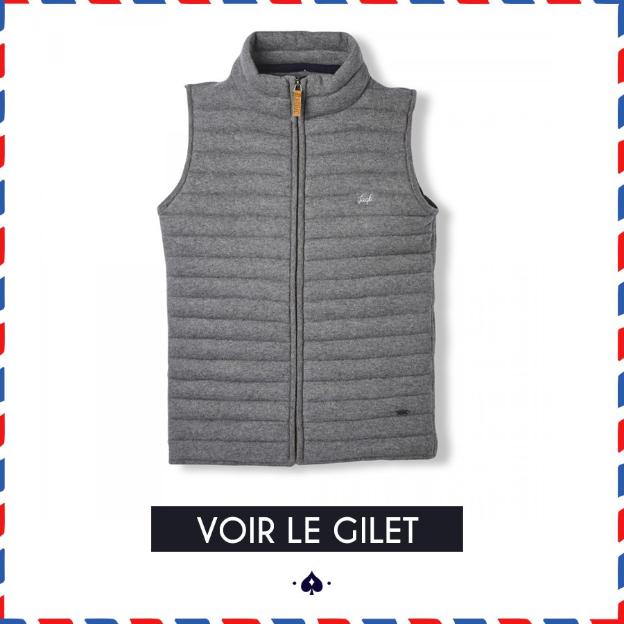 Gilet sans manches Brunch gris