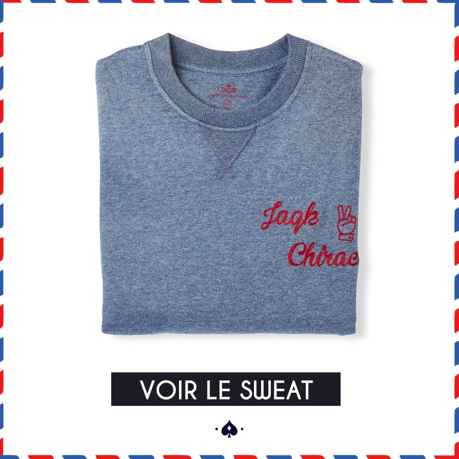 Sweat Friends bleu JAQK Chirac