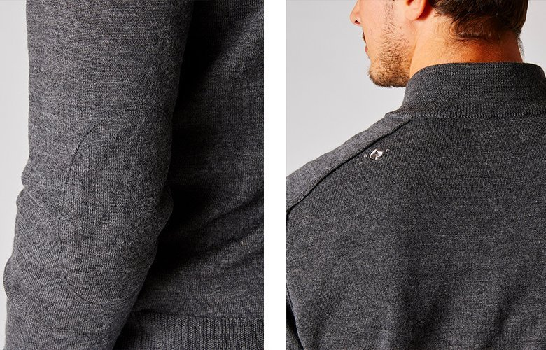 Zoom produit pull obrion gris