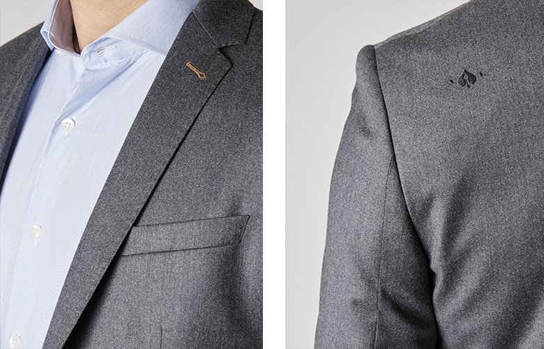 Zoom produit veste Soho grise