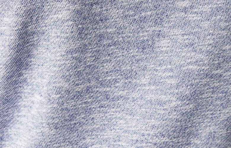 Zoom matière sweat Trévise bleu cobalt