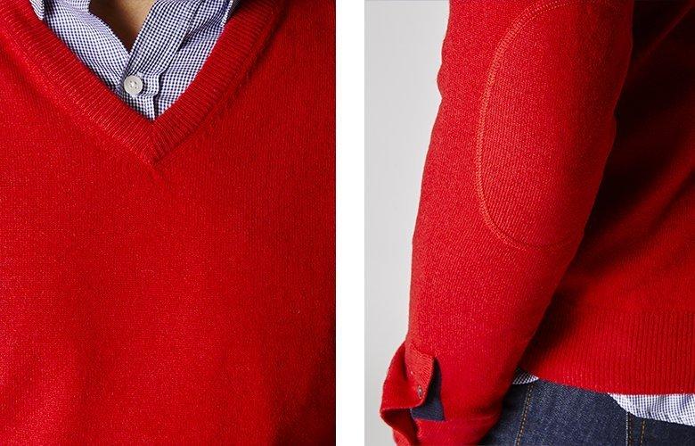 Detail produit pull triomphe rouge